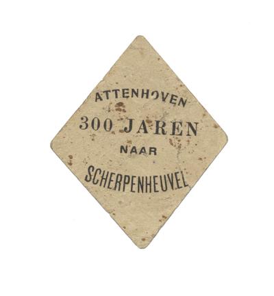 aandenken 300ste bedevaart Attenhoven-Scherpenheuvel