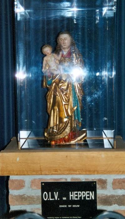 Onze-Lieve-Vrouw met Jezuskind op maansikkel