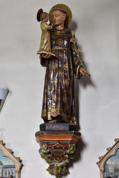 Beeld Sint Antonius met kindje Jezus
