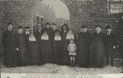 Nieuw Klooster der Arme Clarissen Colettinen, te Genck - Eerste Steenlegging