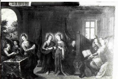 Het mystieke huwelijk van de heilige Agnes
