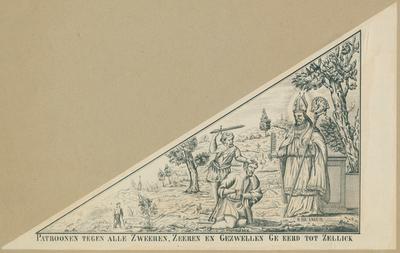 Bedevaartvaantje, Sint-Quirinus en Sint-Blasius, Zellik