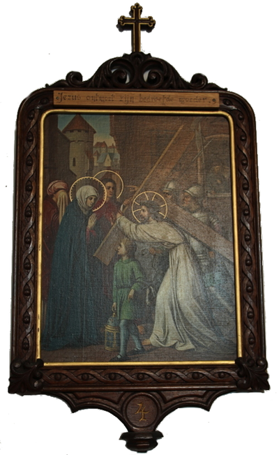 statie 04: Jesus ontmoet zijn bedroefde moeder.