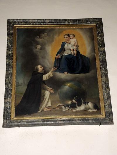 H. Dominicus met Maria en Jezus