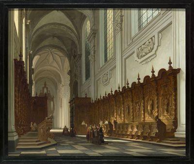Het koorgestoelte van de abdij van Averbode