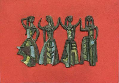 Dansende vrouwenfiguren