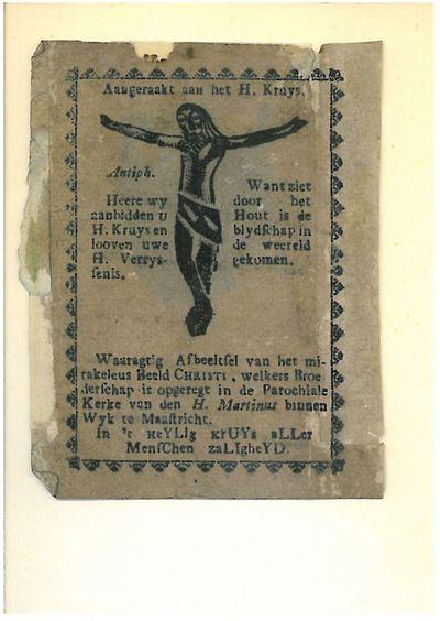 Christus aan het kruis / Miraculeus kruis van Wijck, Maastricht