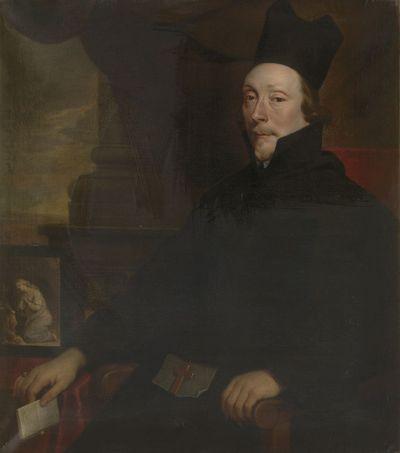 Portret van Winand de la Margelle, abt van Sint-Gertrudisabdij