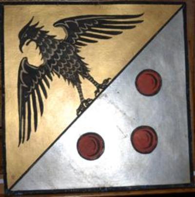 Origineel wapenschild van Pius XI paus van 1922-1939