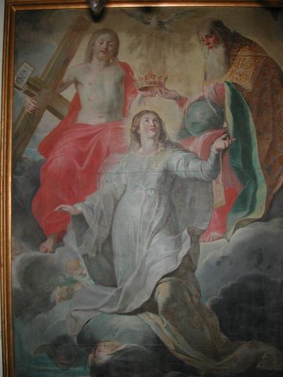 schilderij kroning van O-L-Vrouw door de H. Drievuldigheid