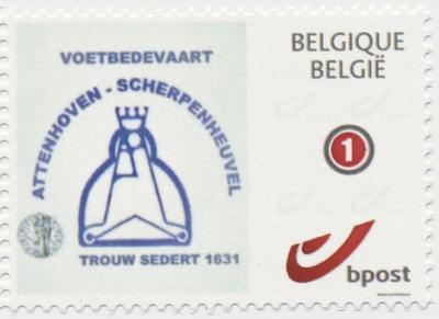 postzegel bedevaart Attenhoven-Scherpenheuvel