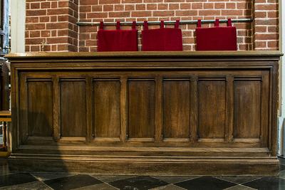 kerkbank van vooraanstaande familie