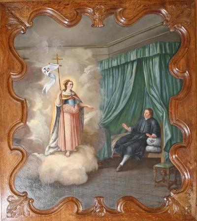 De heilige Odilia van Hoei verschijnt aan Johannes van Eppa