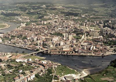 Vista xeral da cidade. Pontevedra.