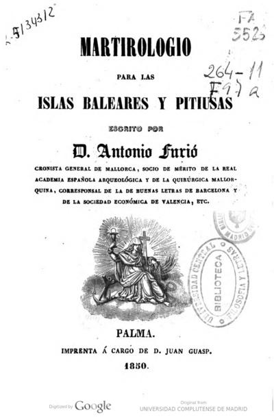 Martirologio para las Islas Baleares y Pitiusas