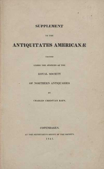 Supplement to the Antiquitates Americanæ