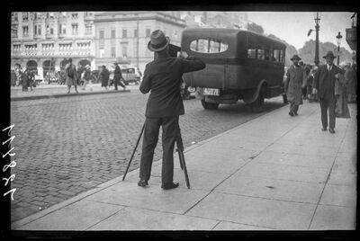 Photographe - Fotograaf op de Kruidtuinlaan te Brussel