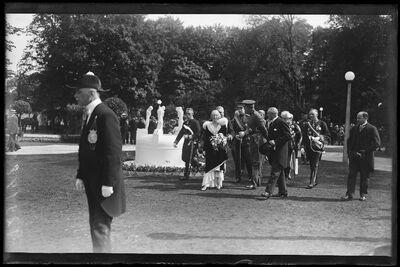 Visite officielle:  Koningin Elisabeth en Koning Albert I bezoeken de Gentse Floraliën