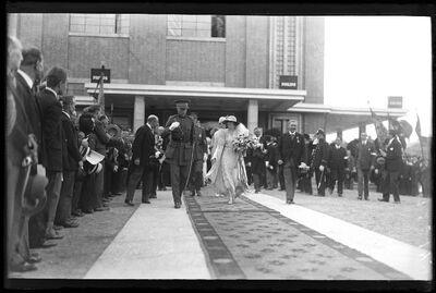 Visite officielle: Koning Albert I en koningin Elisabeth tijdens een officieel bezoek