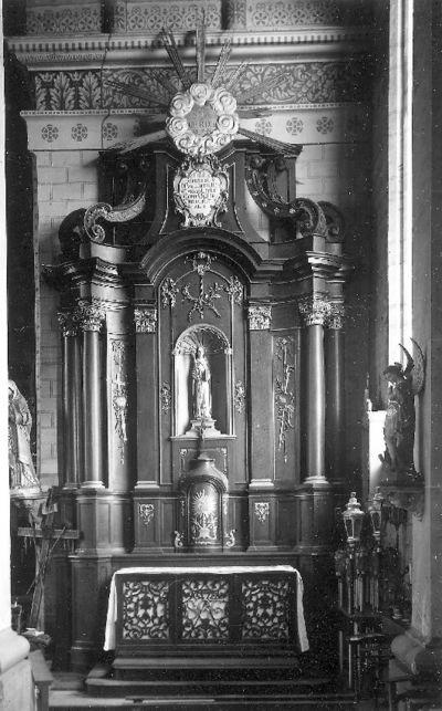 Zijaltaar toegewijd aan de Heilige Gertrudis