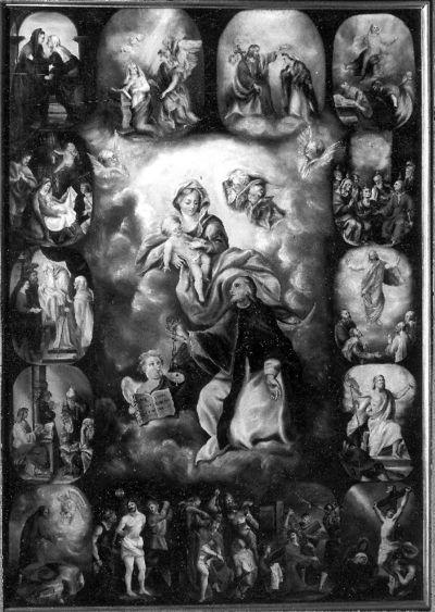 Onze-Lieve-Vrouw met Kind en H. Domenicus