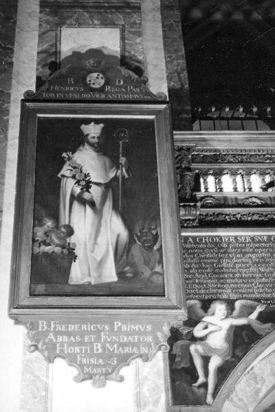 reeks ordeheiligen, zalige Fredericus eerste abt van het klooster liaviengarden in Friesland