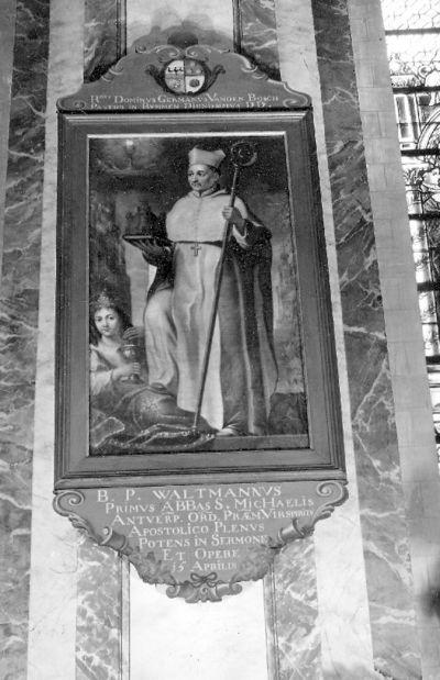 reeks ordeheiligen, zalige Waltmamius eerste abt van de Sint-Michielsabdij Antwerpen