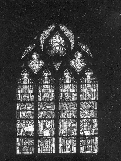 Glasraam met het Heilig Sacrament van Mirakel