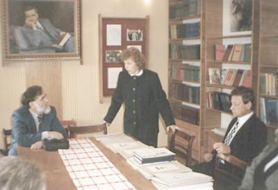 Wizyta bibliotekarzy WiMBP w Białej Podlaskiej w bibliotekach obwodu brzeskiego na Białorusi - w bibliotece w Iwanowie
