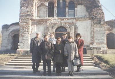 Wizyta bibliotekarzy WiMBP w Białej Podlaskiej w bibliotekach obwodu brzeskiego na Białorusi - w Twierdzy Brzeskiej