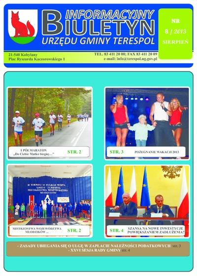 Biuletyn Informacyjny Urzędu Gminy w Terespolu R. 22 (2013) nr 8