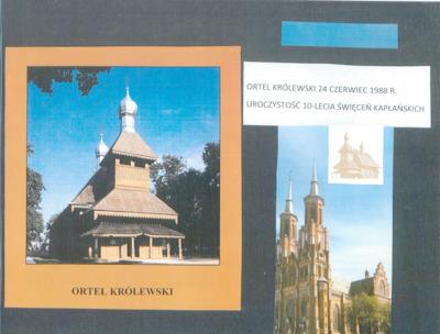 Uroczystość 10-lecia święceń kapłańskich : Ortel Kólewski 24 czerwca 1988 r.
