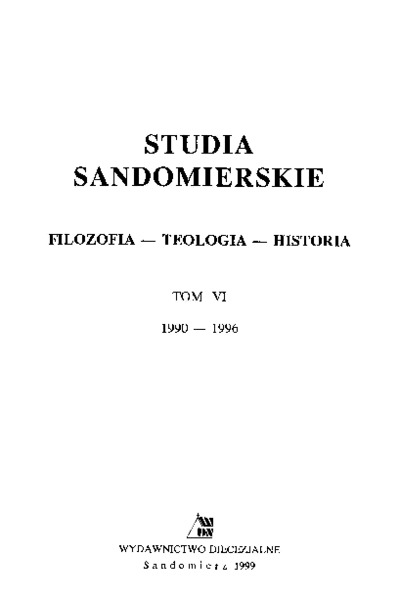 Studia Sandomierskie, Tom VI, 1990-1996 r.