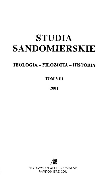 Studia Sandomierskie, Tom VIII, 2001 r.