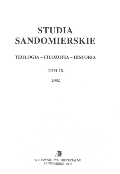 Studia Sandomierskie, Tom IX, 2002 r.