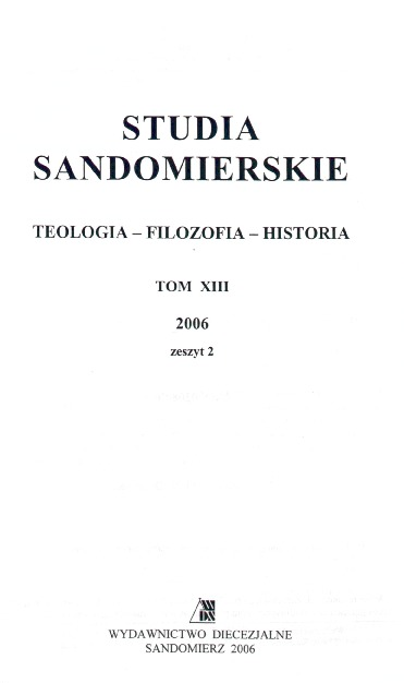 Studia Sandomierskie, Tom XIII, 2006 r., zeszyt 2