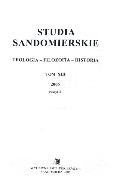 Studia Sandomierskie, Tom XIII, 2006 r., zeszyt 3