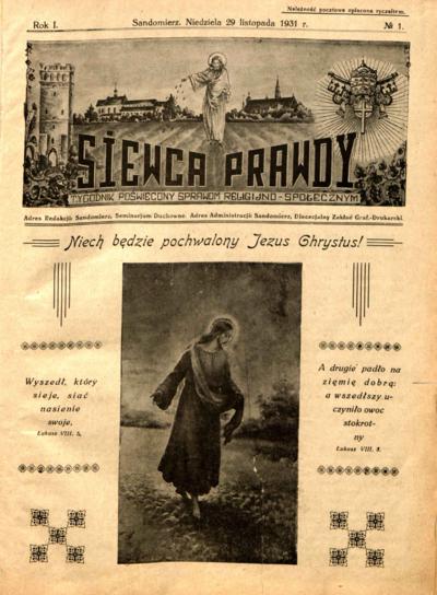 Siewca Prawdy, Rocznik I, rok 1931