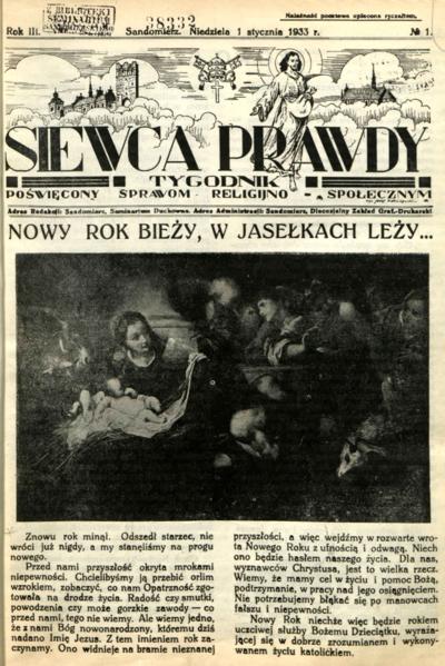 Siewca Prawdy, Rocznik III, rok 1933