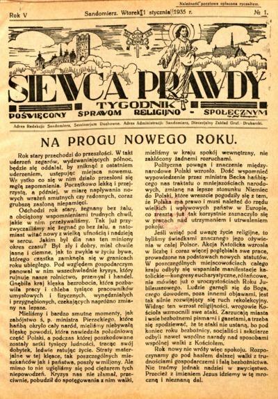 Siewca Prawdy, Rocznik V, rok 1935