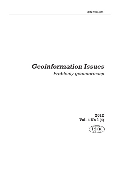 Geoinformation Issues 2012 - introduction