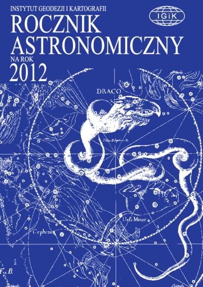 Rocznik Astronomiczny na rok 2012