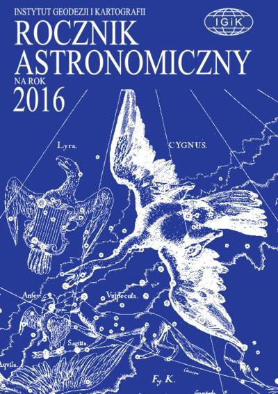Rocznik Astronomiczny na rok 2016
