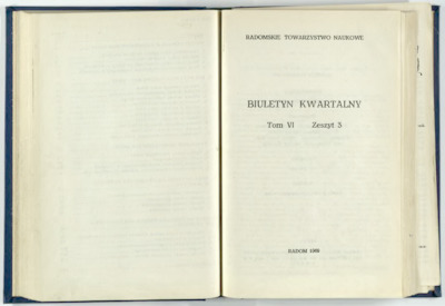 Biuletyn Kwartalny Radomskiego Towarzystwa Naukowego, 1969, T. 6, z. 3
