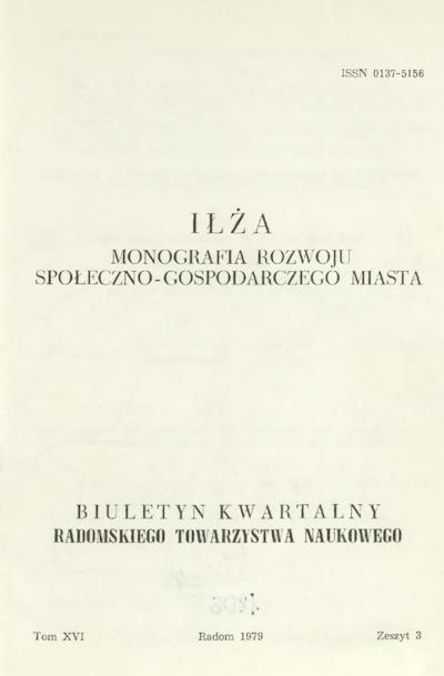 Biuletyn Kwartalny Radomskiego Towarzystwa Naukowego, 1979, T. 16, z. 3