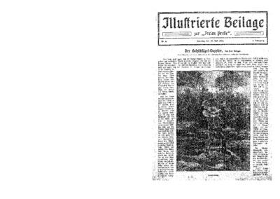 Illustrierte Beilage : zur Freien Presse. 1923-07-29 1. Jg nr 6