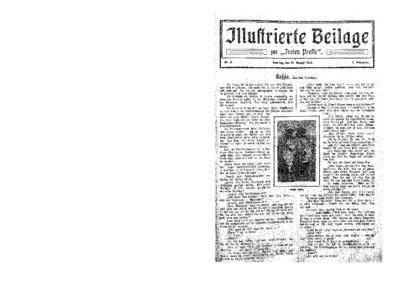 Illustrierte Beilage : zur Freien Presse. 1923-08-19 1. Jg nr 9