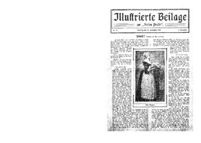 Illustrierte Beilage : zur Freien Presse. 1923-09-30 1. Jg nr 15