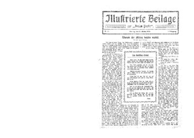 Illustrierte Beilage : zur Freien Presse. 1923-10-21 1. Jg nr 17