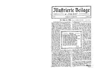Illustrierte Beilage : zur Freien Presse. 1923-11-04 1. Jg nr 19